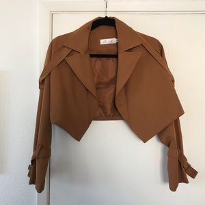 Brown ChicWish Cropped Jacket
